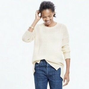 Madewell Texture Play Pullover Sweater Ivory XS